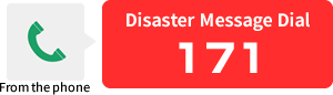 Disaster Message Number (171) is available from the phone.